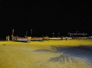 Palolem beach at night