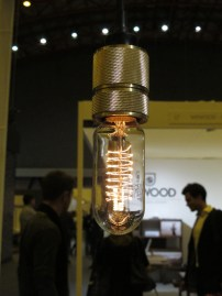 Buster + Punch - solid knurled brass and matte rubber detail light fittings