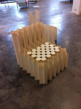Chair made with special paper by Sekita Design Studio