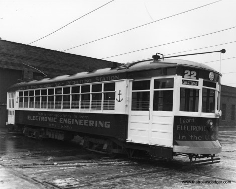 CSL 1776, in patriotic garb, at West Shops in 1944. Those 17-year-olds who decided to study electronic engineering would be 88 years old today.