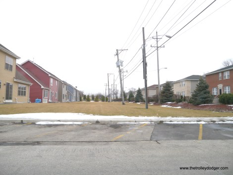 Looking south from Van Buren. The new Bellwood Estates development is at left.