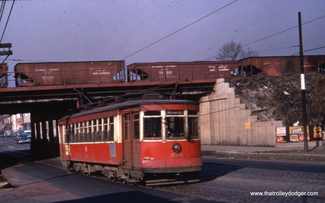 """CTA 518 is southbound on route 9 - Ashland, """"just past the BRC and Wabash RR viaduct at 75th St,"""" according to Bob Lalich."""