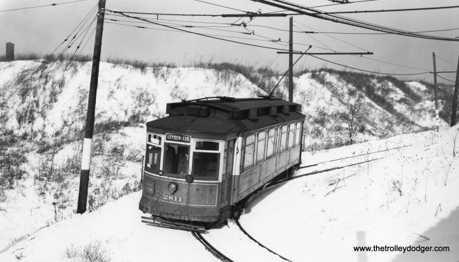 """George Foelschow writes, CSL 2811 """"is on page 29 of the Lind book, identified as 134th Street (where it ducks under the Illinois Central tracks)."""" (Joe L. Diaz Photo)"""
