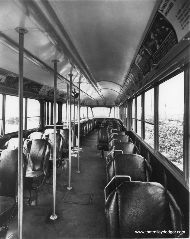 The PCC Model B interior. (Chicago Architectural Photographing Co.)