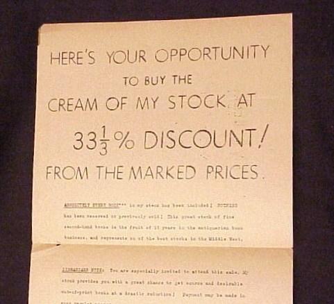 1944 advertisement circular.