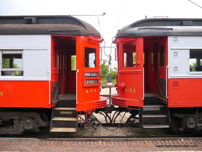 This shows the differences between CA&E cars 409, the sole Pullman saved in its class, and 431.