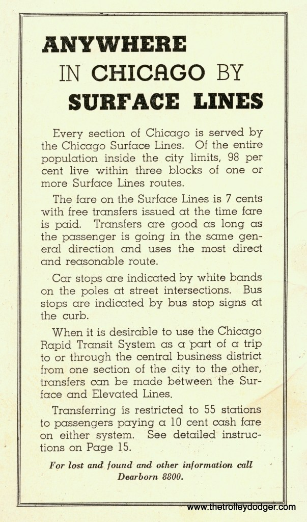 """When this was published in 1935, free transfers between Chicago's streetcars and the """"L"""" were a new thing."""