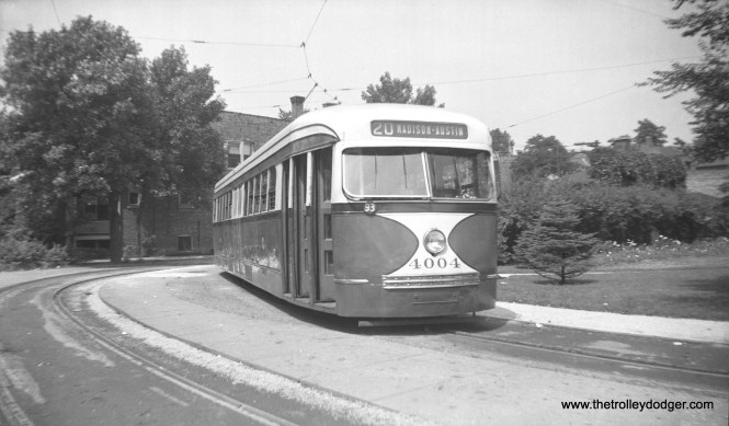 CSL 4004 at the west end of route 20 on May 15, 1940.