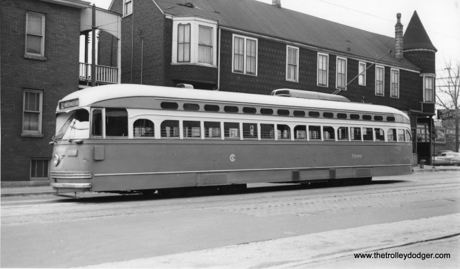 PCC 7096 at 81st and Halsted. (Joe L. Diaz Photo)