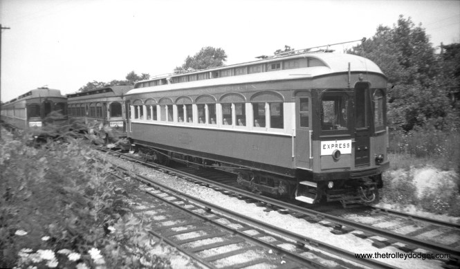 CA&E 36, built by John Stephenson in 1904. After the interurban's demise, it was purchased by Trolleyville USA in Ohio. It came to the Illinois Railway Museum in 2009 where it remains in operating condition.
