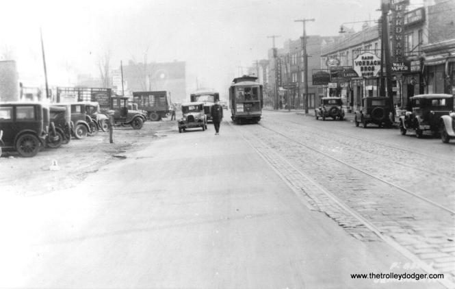 Jamaica Avenue 324 at 169th St on November 7, 1929. (Trolley Museum of New York Collection)