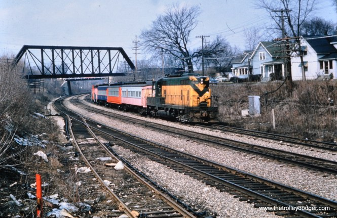 On the C&NW at Wheaton in April 1962. (Mark Llanuza Collection)