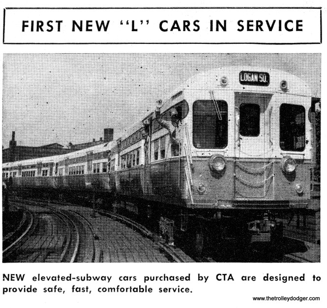 The first train of new 6000-series cars put into service in 1950.