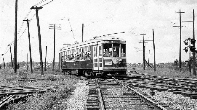 Chicago & West Towns 155 on the LaGrange line in 1941.