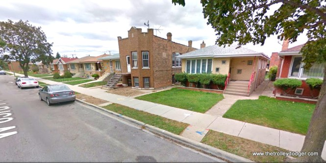 The older house in the middle of the picture (5714 W. 63rd Place) also appears in the 1952 image.