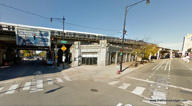 Broadway and Wilson today. The CTA station is being completely rebuilt, at substantial cost. To read more about architect Arthur U. Gerber, who designed the original rapid transit station and many others, go here.