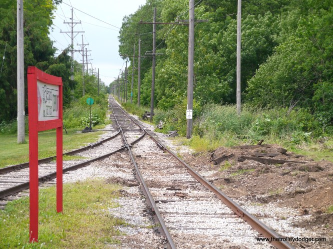 The main line runs southwest from Mukwonago to East Troy.