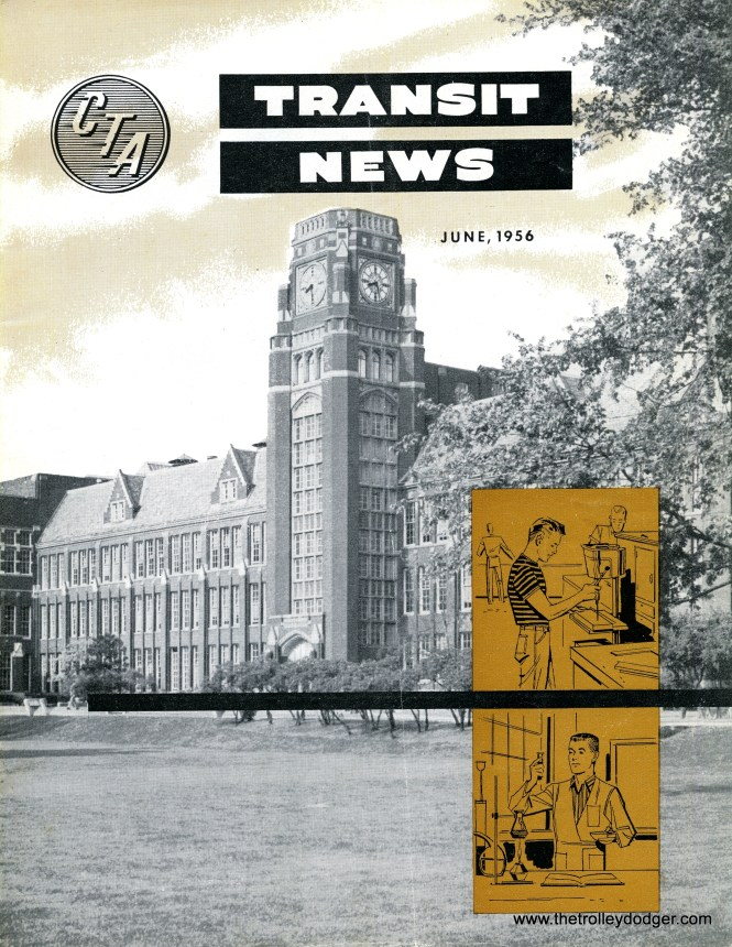 """We now have a nearly complete set of hi-res scans of the CTA Transit News, an employee publication, covering the years from 1947 to 1973. That's an amazing 282 issues in all, on average 24 pages per copy. It's a wealth of information, covering several thousand pages of material, added to our E-Book The """"New Look"""" in Chicago Transit: 1938-1973, available through our Online Store."""
