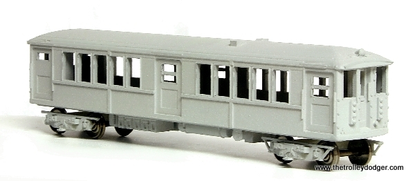 """Island Model Works offers this model of a Chicago 4000-series """"L"""" car (among others). This is the earlier 1913 version with center doors that were not used in service this way. The idea was to speed loading and unloading, but the doors were sealed before these cars were put into service and seats were put there. These cars were built by the Cincinnati Car Company and many were in service for 50 years."""