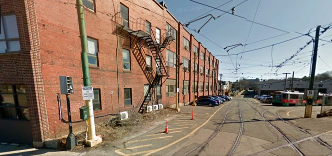 The general area of the 1966 photo. That may be the same building at left, with the fire escape.