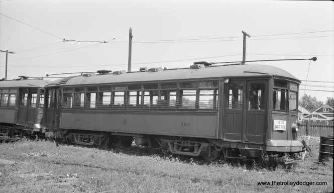 "C&WT 106, signed for the Brookfield Zoo. Don Ross: ""106 was built by McGuire-Cummings in 1915. It was dismantled in 1943."""