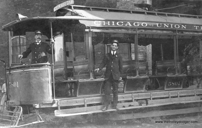 "Chicago Union Traction streetcar 5801, definitely not the same as CSL ""Nearside"" 5801."