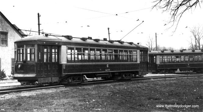 CSL 6259 at the Imlay loop, the north end of the Milwaukee Avenue route. (Robert V. Mehlenbeck Photo, Joe L. Diaz Collection)