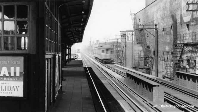 "The North Side ""L"", north of Lawrence Avenue. (George Trapp Collection)"