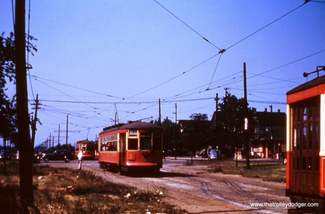 CTA 6204 on 93rd at Stony Island Avenue in 1949.