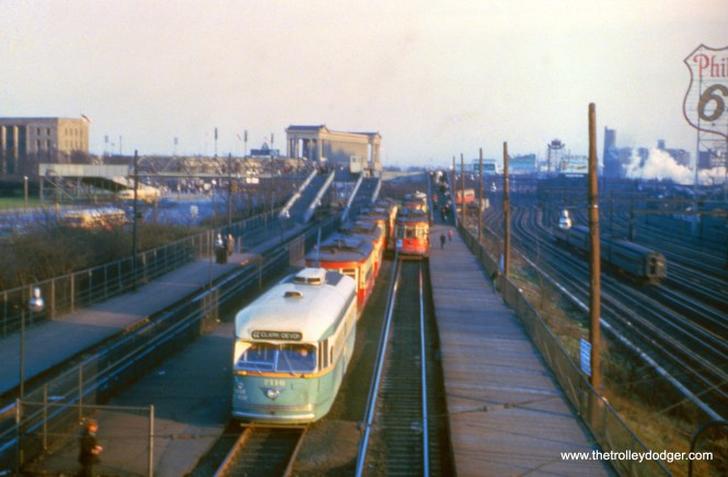 CTA 7116 on the Museum Loop trackage near Soldier Field in January 1954. This would have been a short-turn on route 22 - Clark-Wentworth. These tracks were built in the early 1930s to serve the Century of Progress World's Fair. In CERA Bulletin 146, there is another picture of this same car on the Museum Loop in 1951. It's dark, but you can just make out an Illinois Central Electric train at right.