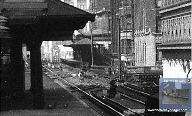 """A close-up of the previous picture.  Are those tracks leading off to the right?  Apparently they are, but just the ones leading to the Wells leg of the """"L"""".  The station further in the distance is part of the Met main line."""