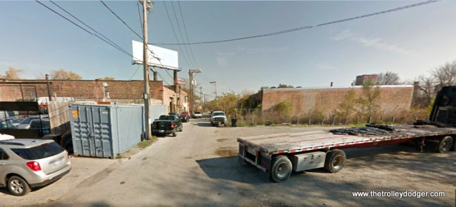 """The view looking east from about 612 S. Kilpatrick today. If the location in the previous picture is correct, it looks like the old Garfield Park """"L"""" structure occupied the space just to the right of the alley."""