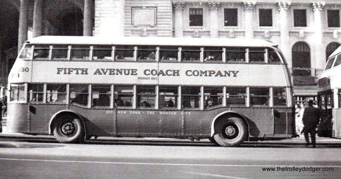 Fifth Avenue Coach Company (NYC) double-decker 2030.