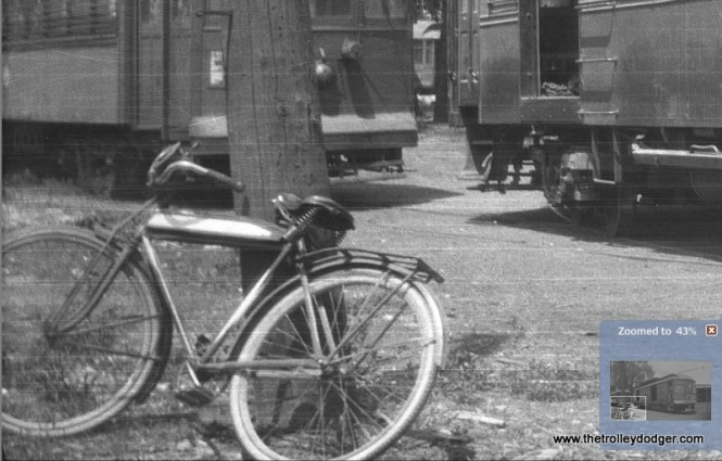 Edward Frank, Jr.'s famous bicycle, which appears in many of his pictures.