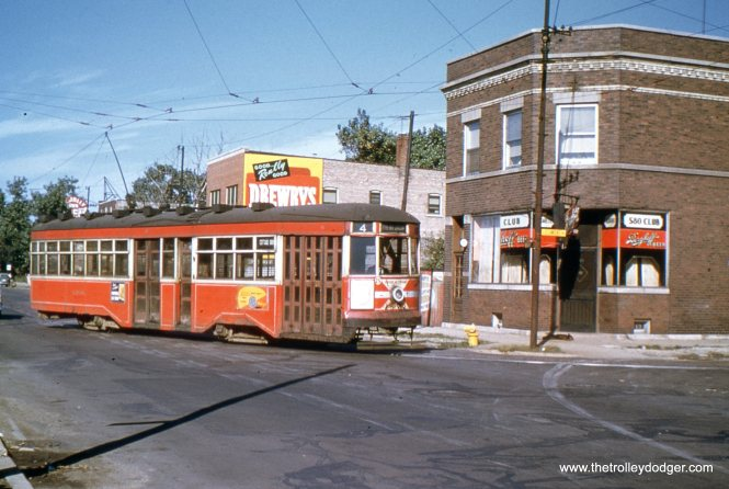 A CTA Sedan at 115th adn St. Lawrence, near the south end of the Cottage Grove line.