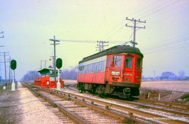 CA&E 430 at Batavia Junction in 1957. (Fred Byerly Collection)