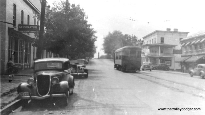 Williamsport, Maryland about 1944. That looks like a 1934 Ford at left.