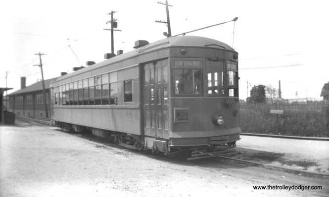 """North Shore Line city streetcar 359 at Great Lakes. Don's Rail Photos: """"359 was built by St Louis Car Co in January 1928, #1453. It was retired in 1949 and scrapped in 1950."""""""