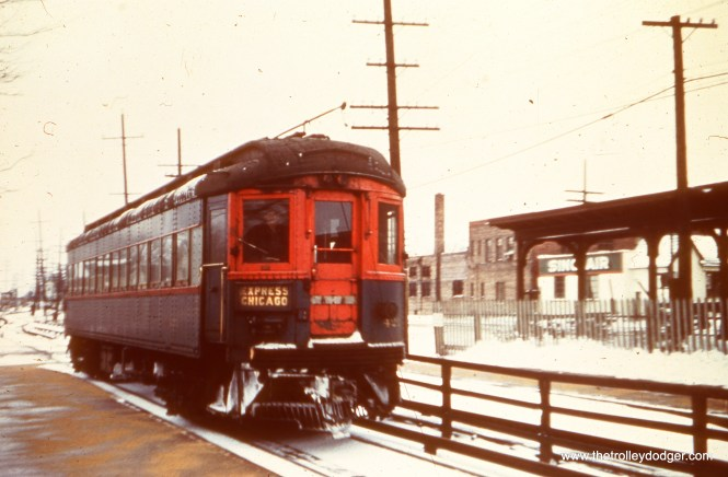 CA&E 421 at the Wheaton station. (Stephen P. Hyett Photo)
