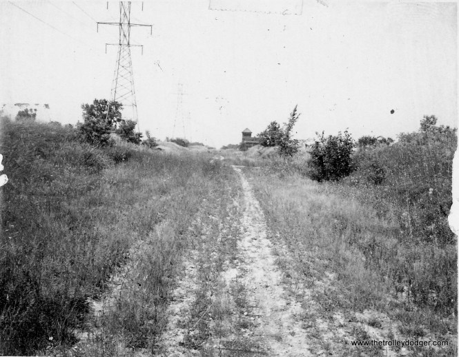 Abandoned NSL r.o.w. north of Ryan Road Carrollville substation distant 1971