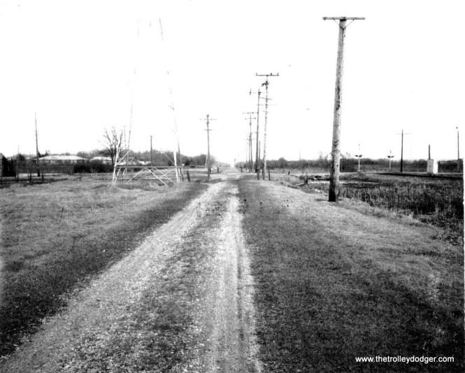 Abandoned TM ROW Looking east to Springdale Rd. 4-14-71 LAS