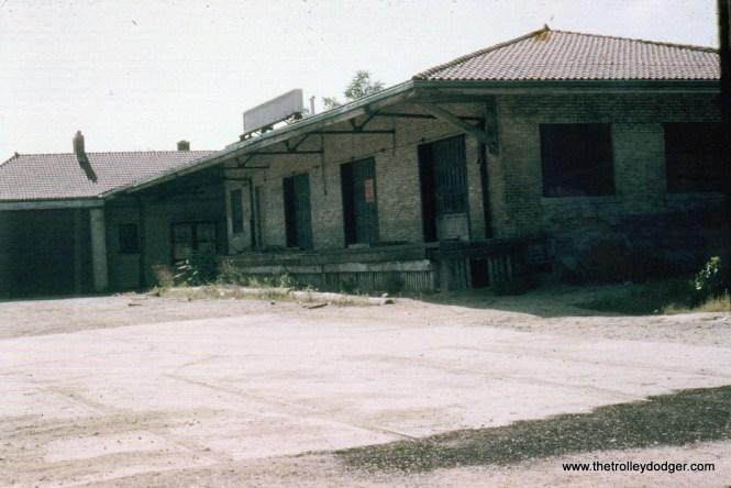 Former TM Kenosha Station 9-63 Ray DeGroote note freight tracks.