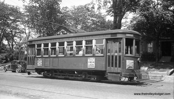 Black River Traction car 5, with a date given of June 20, 1938. Not sure whether this car was also built by the Barber Car Company.