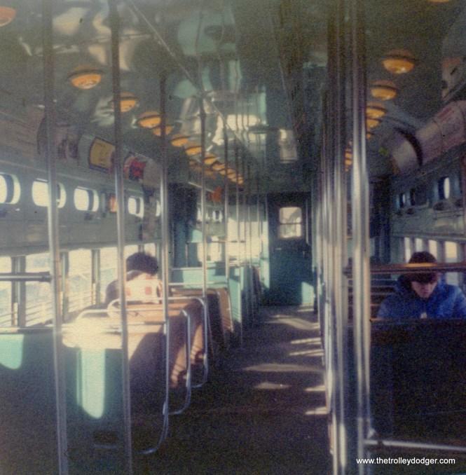 CTA 6000s interior, December 22, 1976.