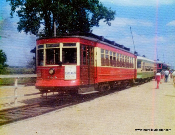 Chicago red Pullman 144 at IRM, 1970s.