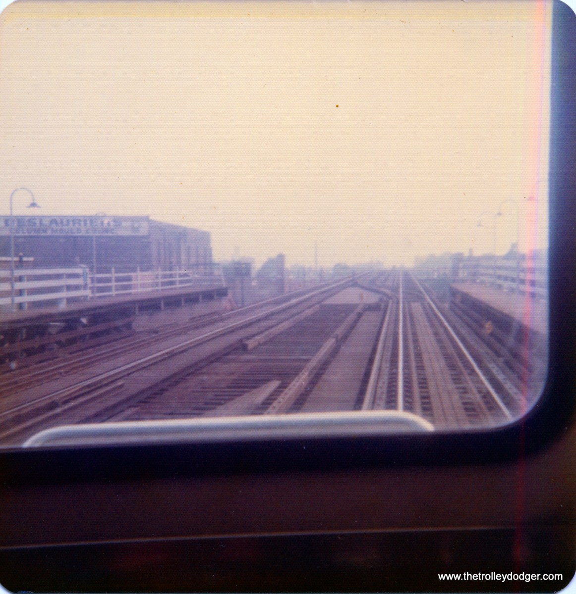 """Somewhere on Chicago's """"L"""" system, mid-1970s."""