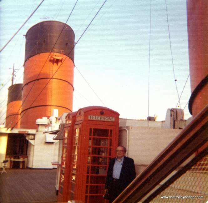 Marvin C. Kruse on the Queen Mary in Long Beach, California on May 24, 1974.