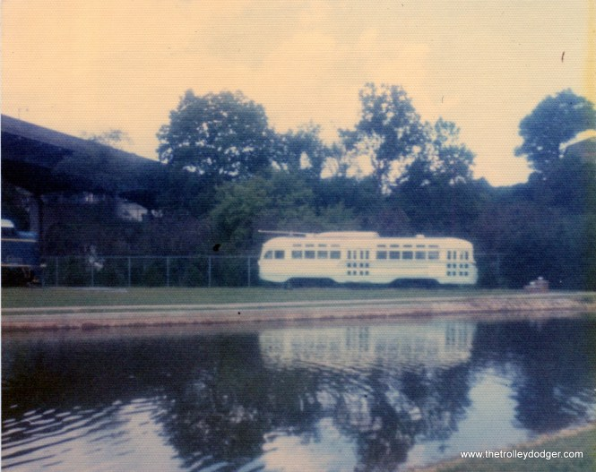 A PCC car at the Roanoke, Virginia Transportation Museum on August 27, 1975.