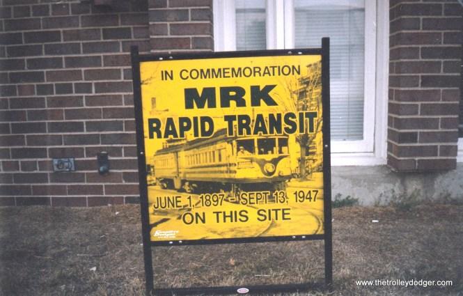 Sign commemorating TM Kenosha station