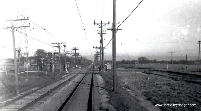 Springdale Road. on Waukesha Line looking east in TM days Ed Wilson
